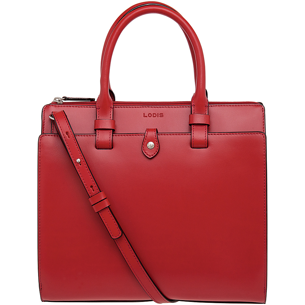 Lodis Audrey Linda Mini Satchel Red Lodis Leather Handbags