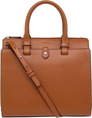 Lodis Audrey Linda Mini Satchel Toffee/Chocolate - Lodis Leather Handbags