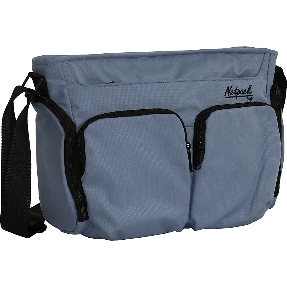 Netpack Soft Lightweight Compact Travel Shoulder Bag with RFID Pocket Grey Netpack Other Men s Bags