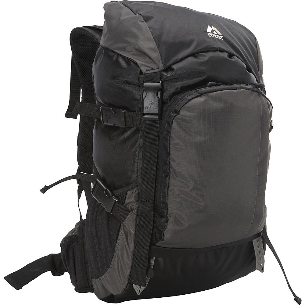 Everest Weekender Hiking Pack Black/Gray - Everest Day Hiking Backpacks - Outdoor, Day Hiking Backpacks