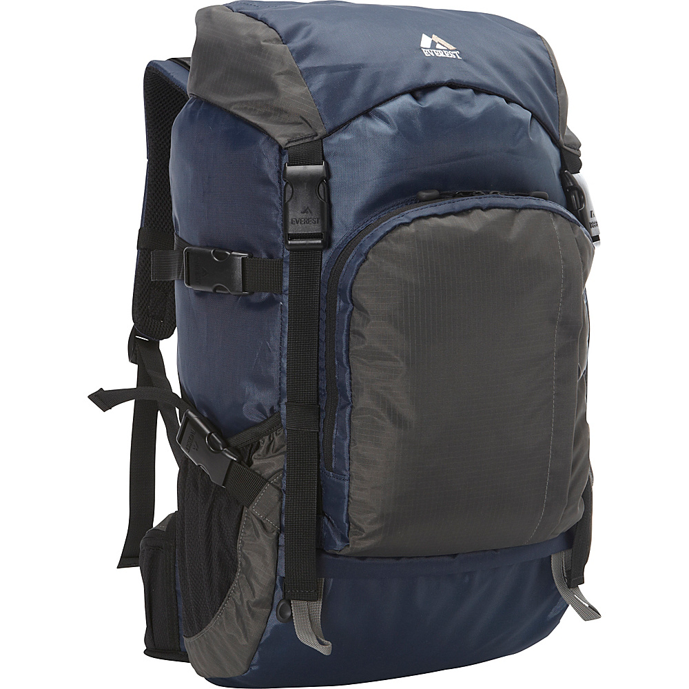 Everest Weekender Hiking Pack Navy Gray Everest Day Hiking Backpacks