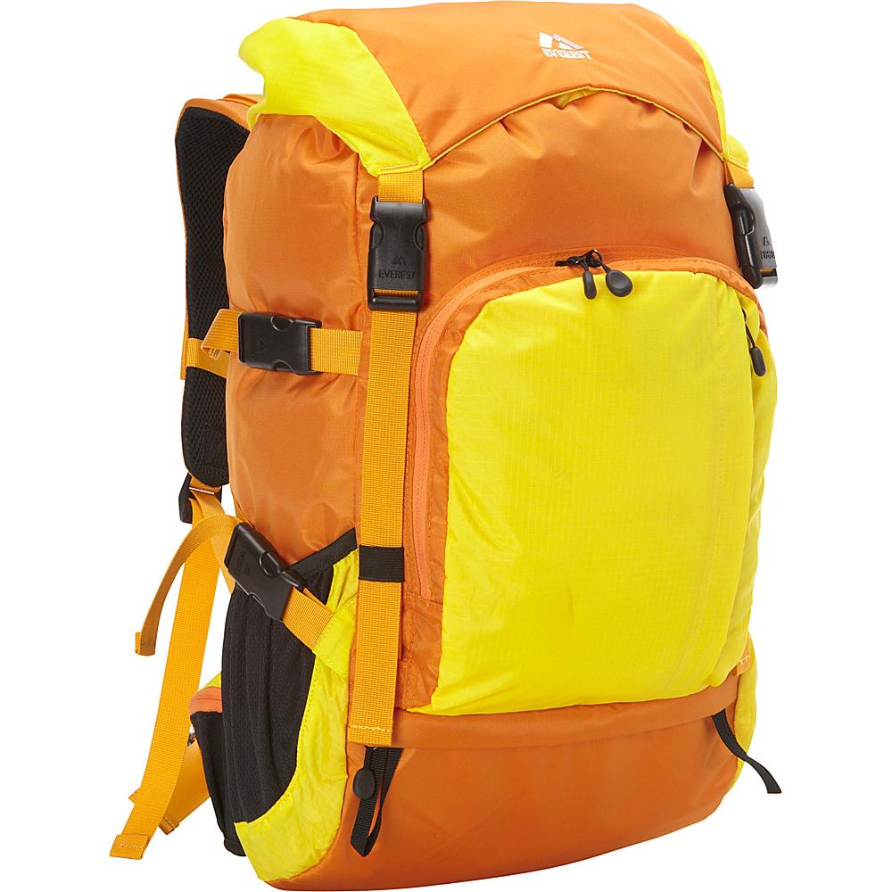Everest Weekender Hiking Pack Orange/Yellow - Everest Day Hiking Backpacks - Outdoor, Day Hiking Backpacks