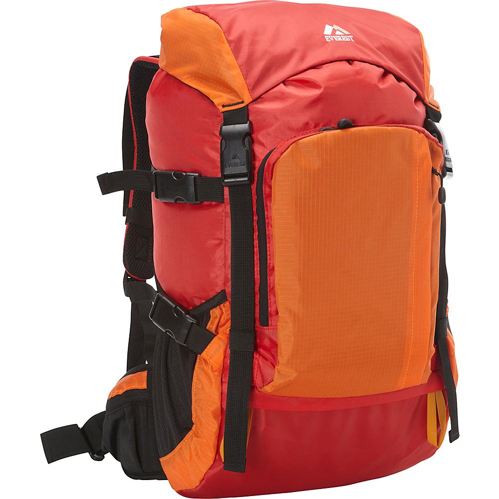 Everest Weekender Hiking Pack Red/Orange - Everest Day Hiking Backpacks - Outdoor, Day Hiking Backpacks