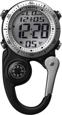 Dakota Watch Company Digiclip Watch Black with Silver - D...