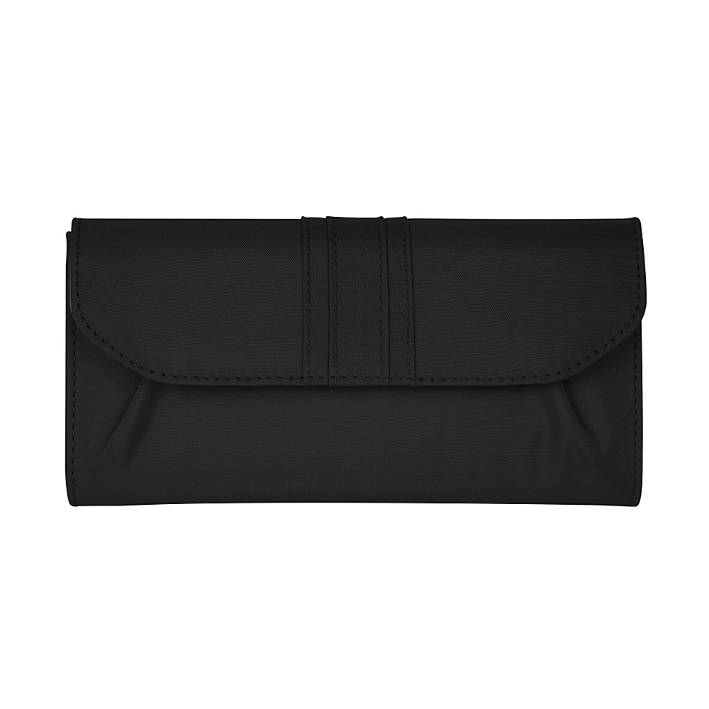Travelon Signature Pleated Envelope Style Wallet Black Travelon Women s Wallets