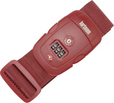 Hartmann Luggage TSA Combination Luggage Strap Red - Hartmann Luggage Luggage Accessories