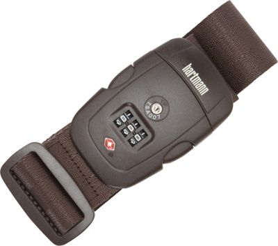Hartmann Luggage TSA Combination Luggage Strap Brown - Hartmann Luggage Luggage Accessories