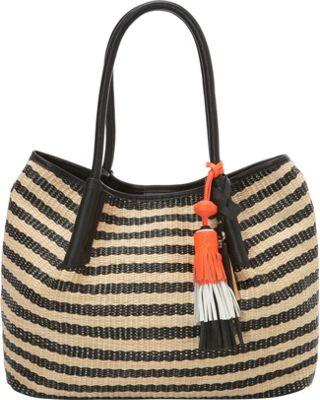 Vince Camuto Harlo Tote Natural/Black - Vince Camuto Designer Handbags