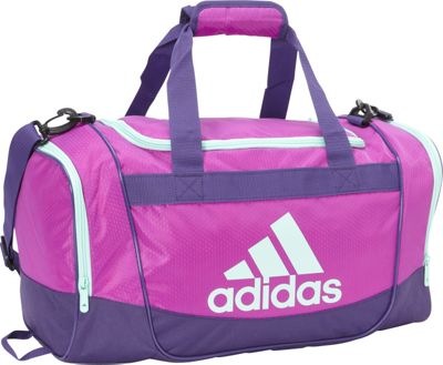 adidas Defender II Small Duffel Shock Purple/Unity Purple/Ice Green/Black - adidas All Purpose Duffels 10455259