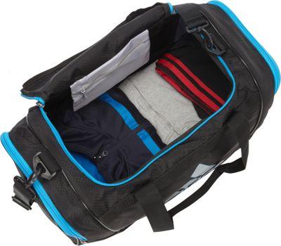 adidas Defender II Small Duffel Black Twister/Black/Shock Pink - adidas Gym Duffels