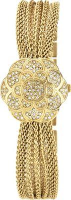 Anne Klein Watches Swarovski Crystal Accented Gold-Tone Mesh Bracelet Watch Gold - Anne Klein Watches Watches