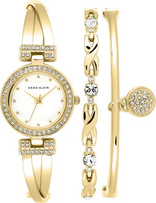 Anne Klein Watches Bangle Watch And Bracelet Set Gold - Anne Klein Watches Watches