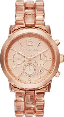 Michael Kors Watches Audrina Chronograph Acetate Watch Rose Gold - Michael Kors Watches Watches