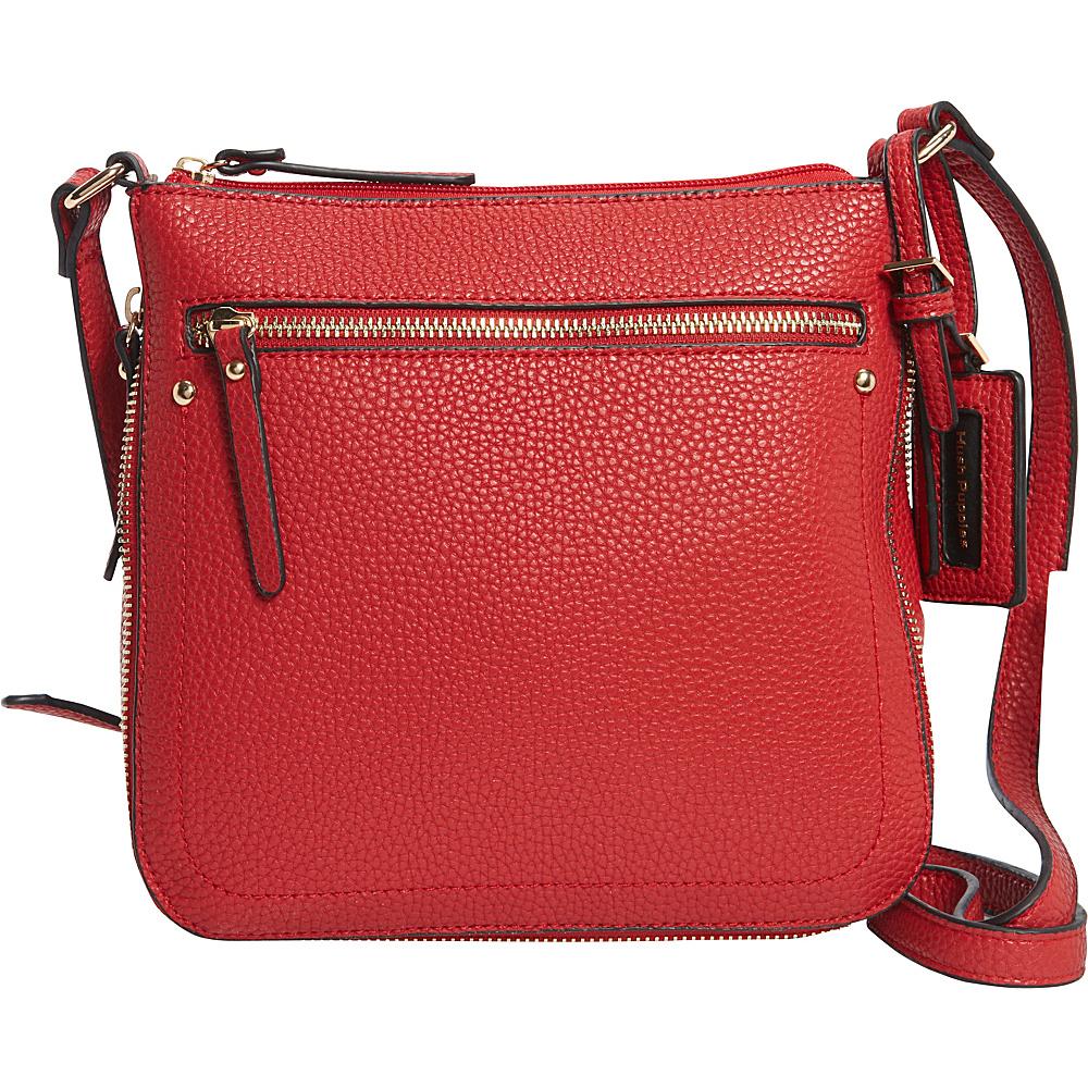 Hush Puppies Contouring Zipper Crossbody Red Hush Puppies Manmade Handbags
