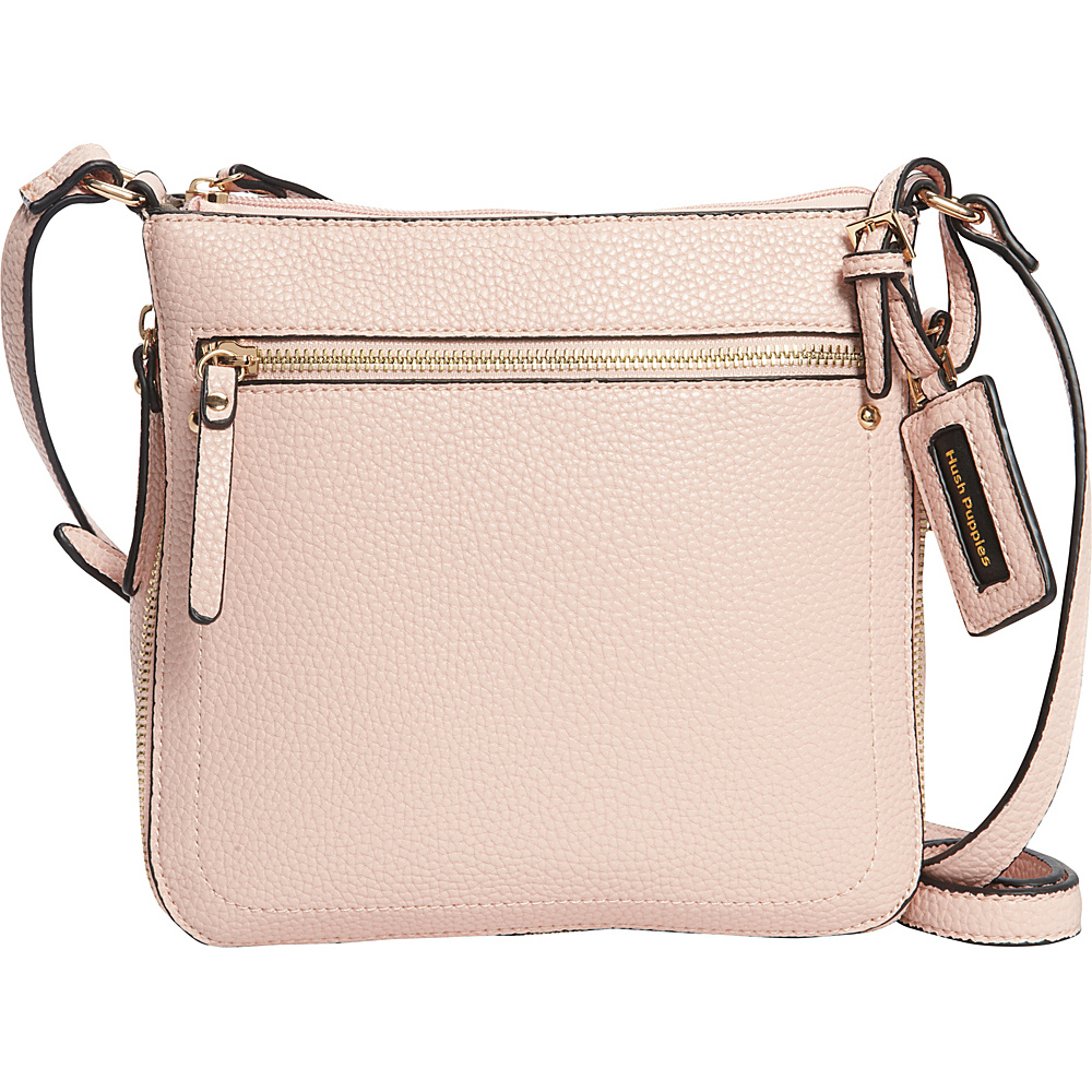 Hush Puppies Contouring Zipper Crossbody Dusty Pink Hush Puppies Manmade Handbags