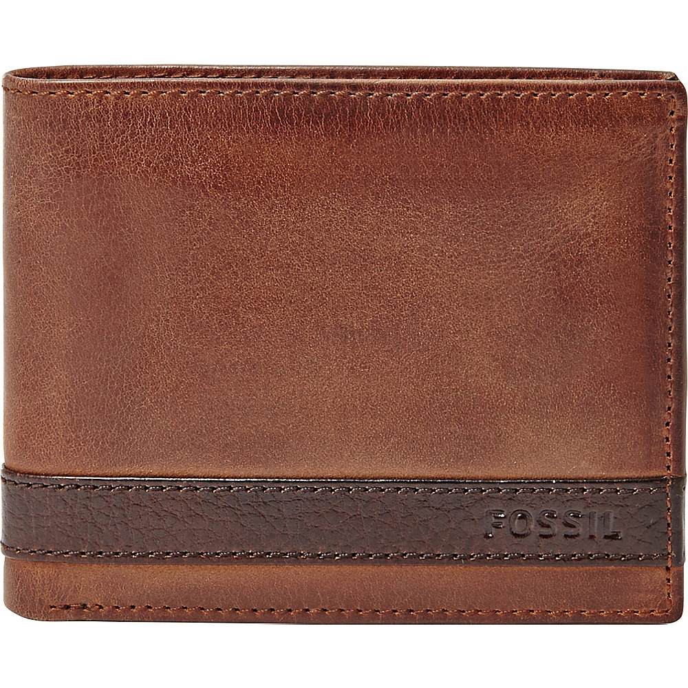 Fossil Quinn Flip ID Bifold Brown - Fossil Mens Wallets - Work Bags & Briefcases, Men's Wallets