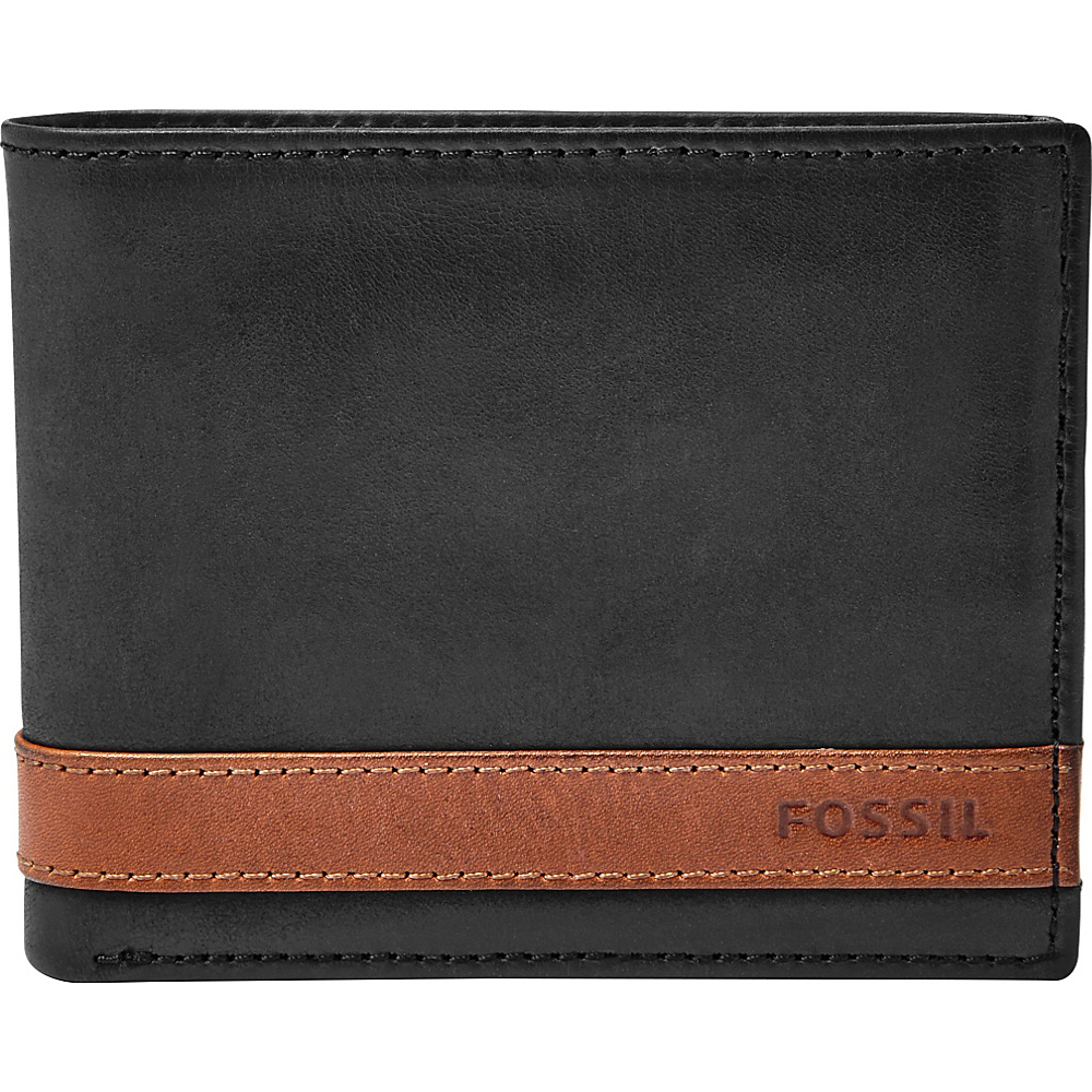 Fossil Quinn Flip ID Bifold Black - Fossil Mens Wallets - Work Bags & Briefcases, Men's Wallets