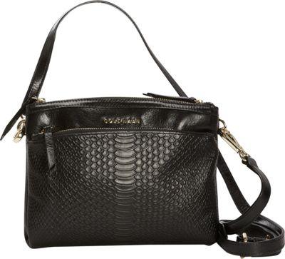 Cole Haan Isabella Glazed Top Zip Crossbody Black - Cole Haan Designer Handbags