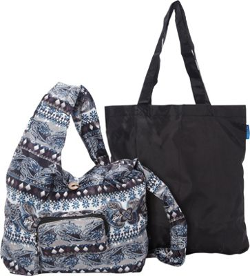 Sacs Collection by Annette Ferber Sacs Collection by Annette Ferber City Slinger- 2 bag set Paisley Perfect / Black - Sacs Collection by Annette Ferber Fabric Handbags