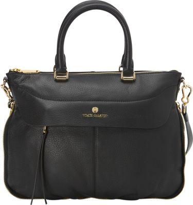 Vince Camuto Dean Satchel Black - Vince Camuto Designer Handbags
