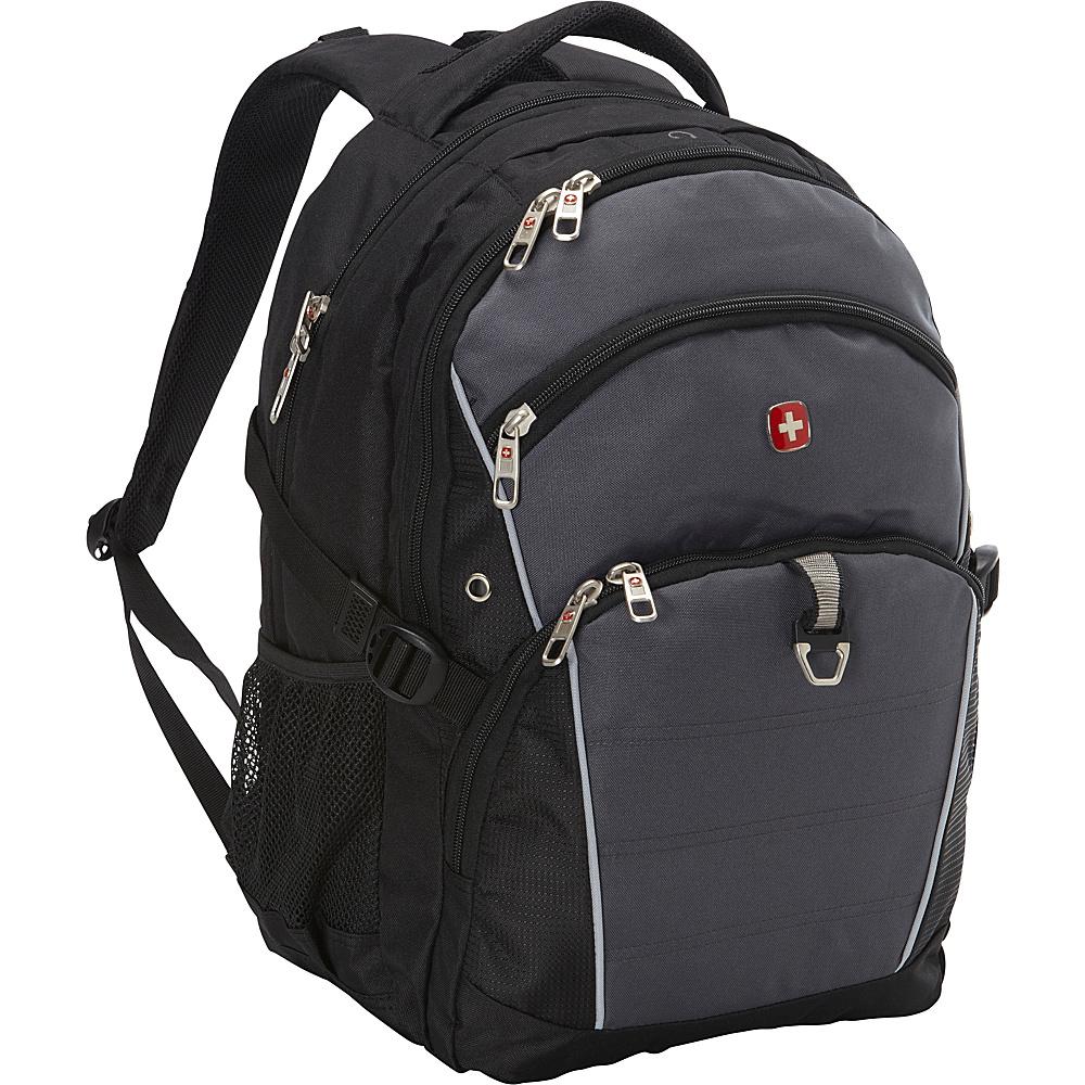 SwissGear Travel Gear 18.5 Laptop Backpack 3272 Black Grey SwissGear Travel Gear Business Laptop Backpacks