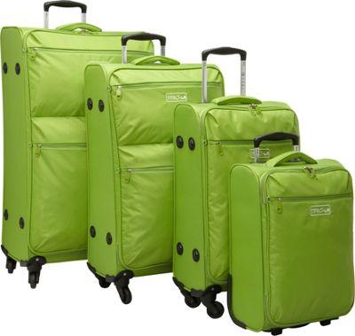 Travelers Club Luggage Cloud 4PC Super-Lite Softside Spinner Luggage Set Green - Travelers Club Luggage Luggage Sets