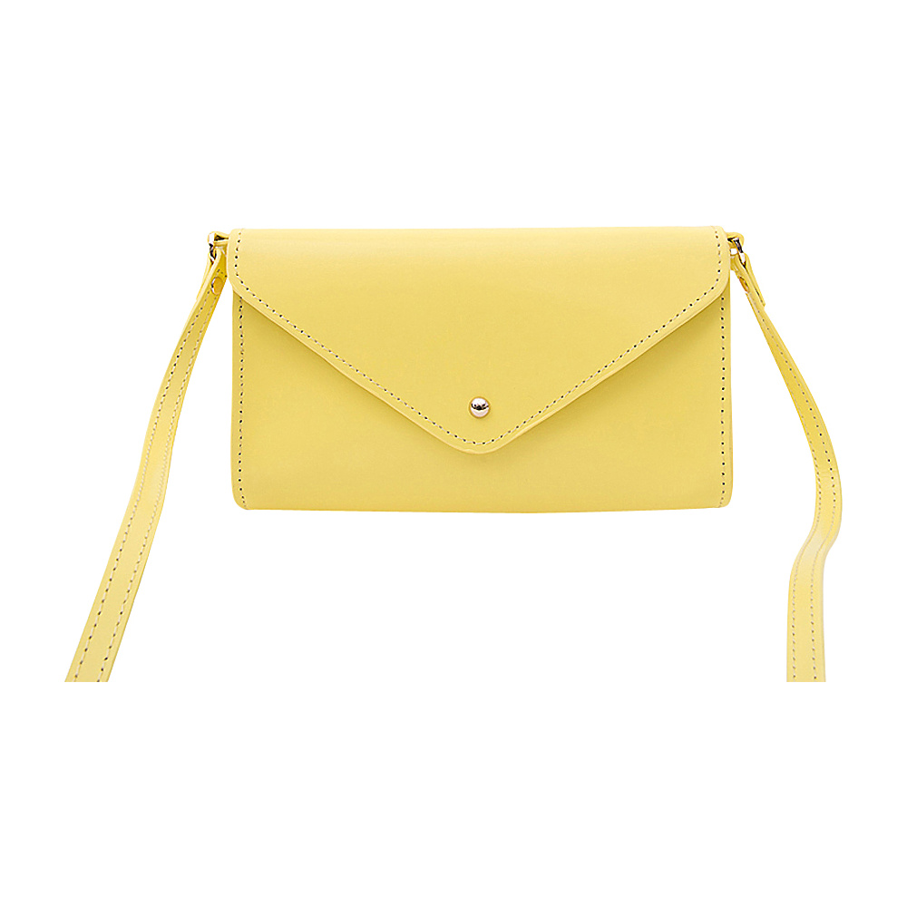 Paperthinks Mini Envelope Clutch Bag Limone Paperthinks Leather Handbags