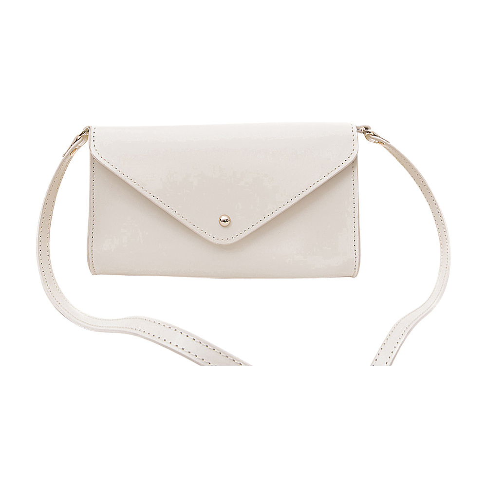 Paperthinks Mini Envelope Clutch Bag Nocciola Paperthinks Leather Handbags