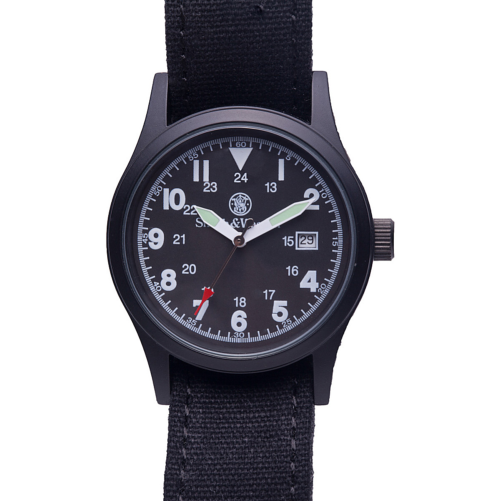 Smith & Wesson Watches Military Watch with (3) Canvas Straps Black - Smith & Wesson Watches Watches