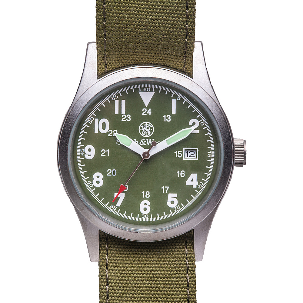 Smith & Wesson Watches Military Watch with (3) Canvas Straps Olive Drab - Smith & Wesson Watches Watches