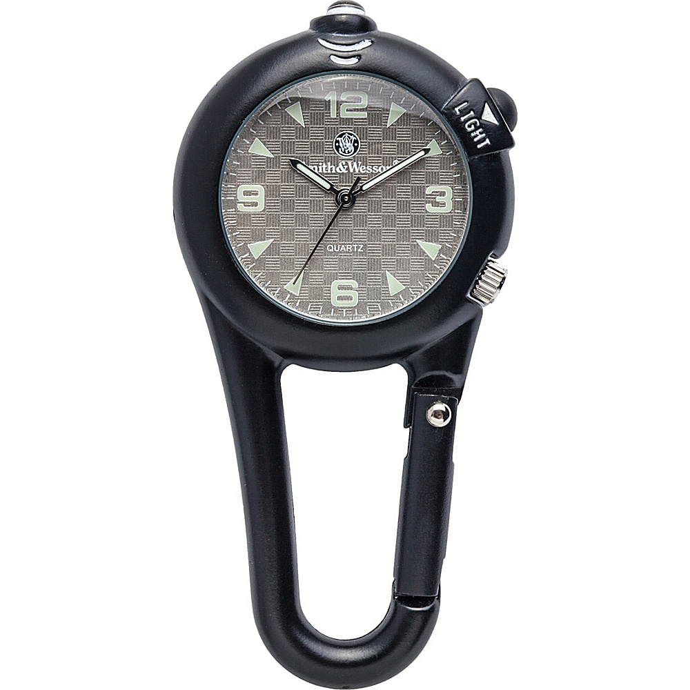 Smith & Wesson Watches LED Light Carabineer Pocket Watch Black - Smith & Wesson Watches Watches