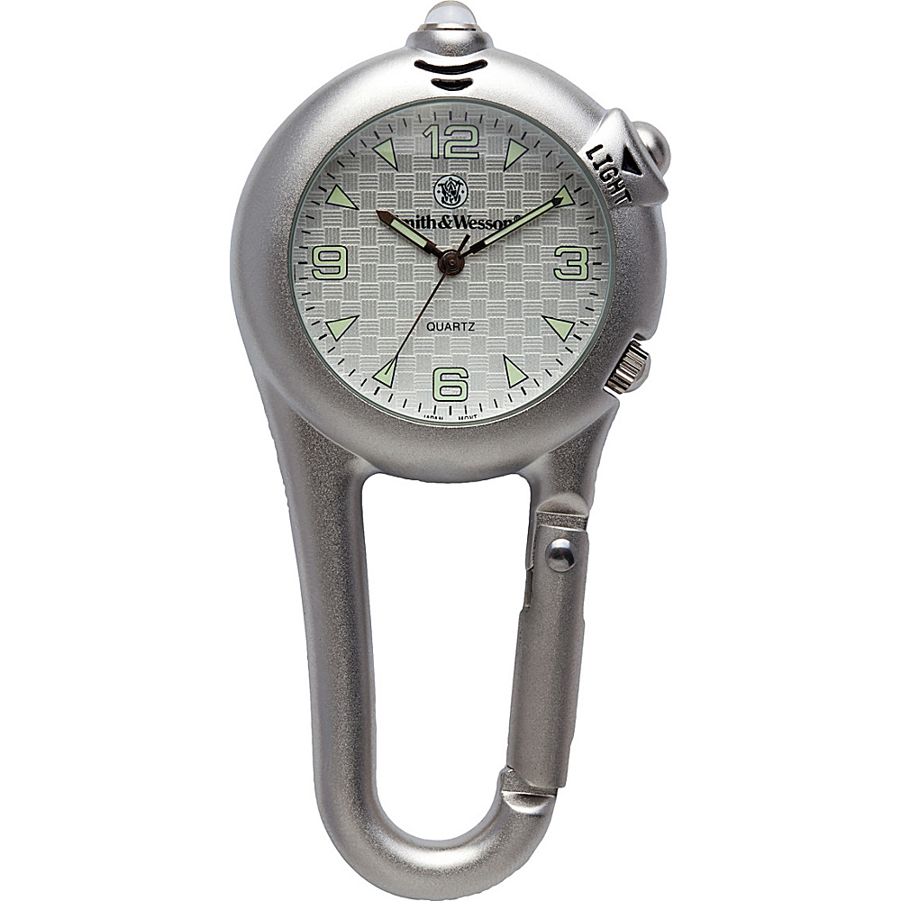 Smith & Wesson Watches LED Light Carabineer Pocket Watch Silver - Smith & Wesson Watches Watches