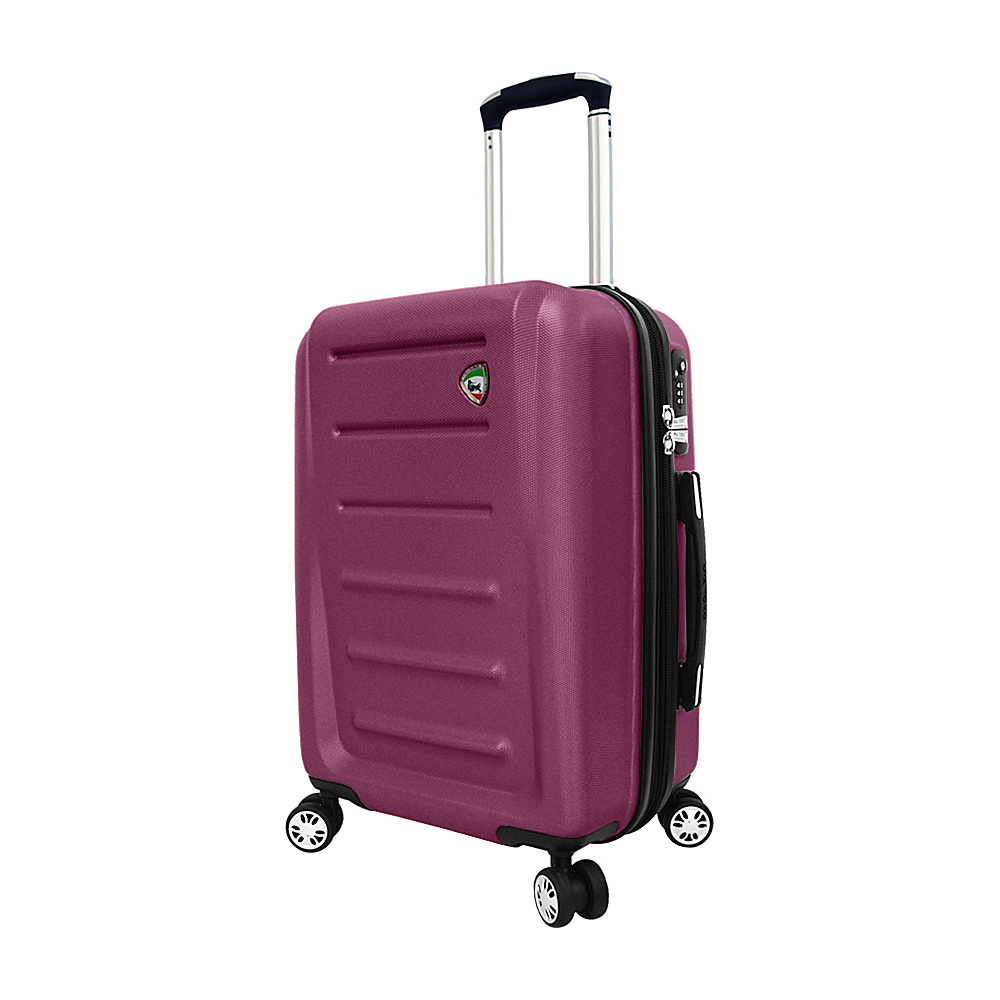 Mia Toro ITALY Moderno Hardside 20 Spinner Carry On Burgundy Mia Toro ITALY Hardside Carry On