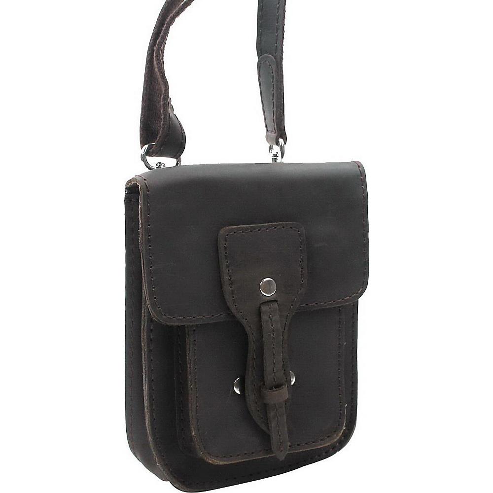 Vagabond Traveler 7 Slim Leather Crossbody Bag Dark Brown - Vagabond Traveler Leather Handbags - Handbags, Leather Handbags