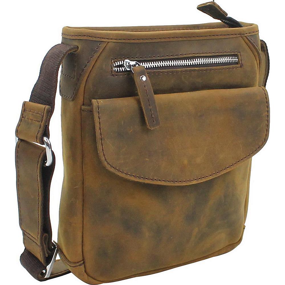 Vagabond Traveler 10 Leather Crossbody Bag Vintage Brown - Vagabond Traveler Leather Handbags - Handbags, Leather Handbags