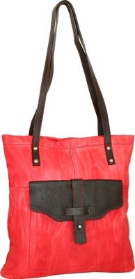 Nino Bossi Squeeze My Slim Tote Red - Nino Bossi Leather Handbags