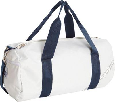 SailorBags Round Duffel White/Blue - SailorBags Travel Duffels