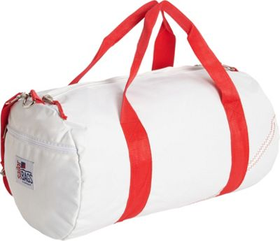 SailorBags Round Duffel White/Red - SailorBags Travel Duffels