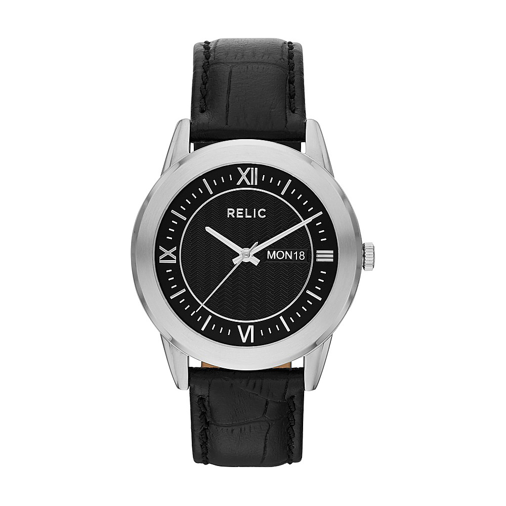 Relic Caldwell Leather Watch Black Relic Watches