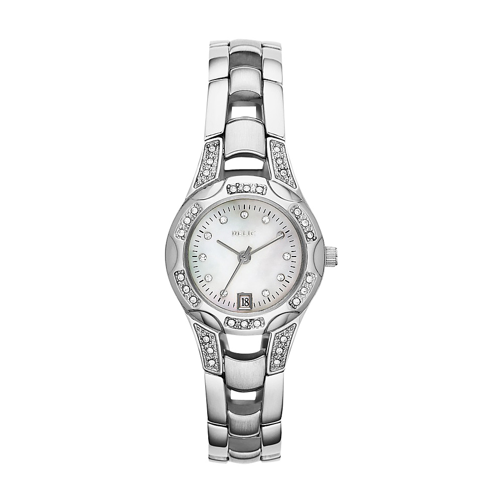 Relic Charlott Glitz Watch Silver Relic Watches
