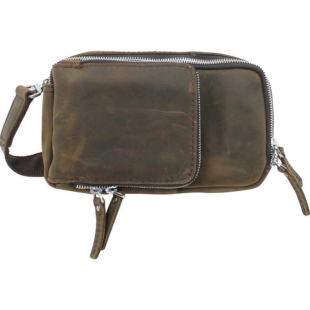 Vagabond Traveler 9 Leather Crossbody Wallet Dark Brown - Vagabond Traveler Womens Wallets - Women's SLG, Women's Wallets