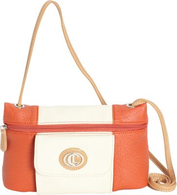 Aurielle-Carryland Vertical Color Block Mini Crossbody Poppy/Ivory - Aurielle-Carryland Manmade Handbags