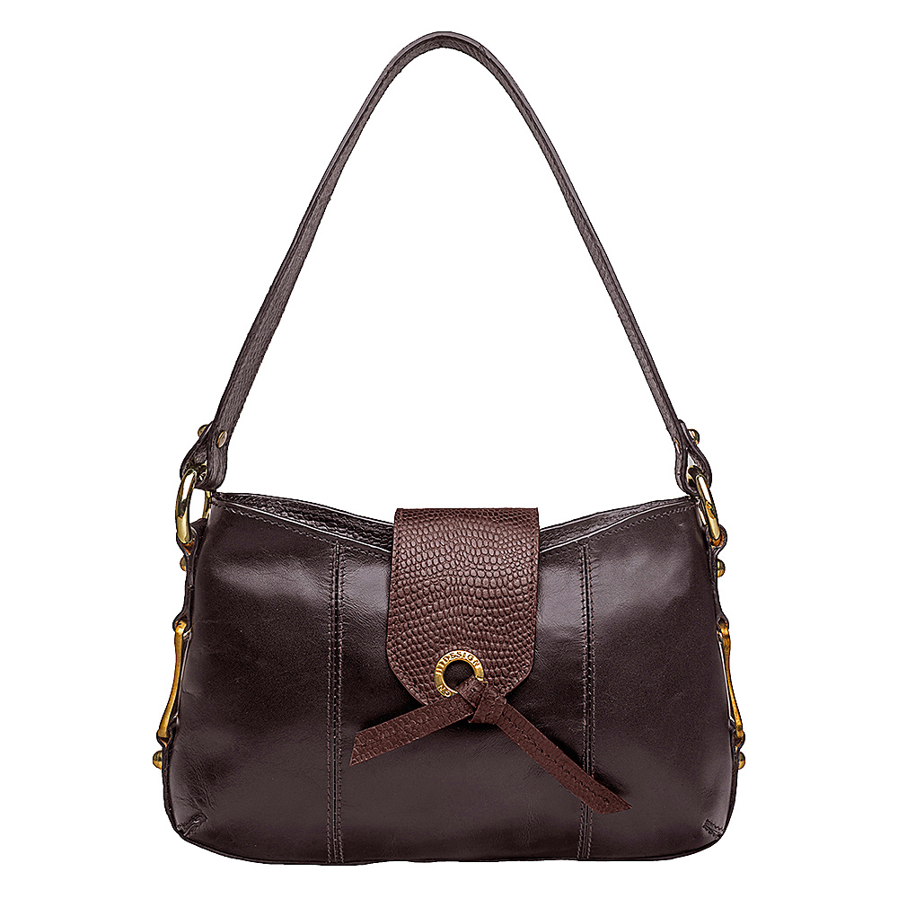 Hidesign Indus Small Shoulder Bag Brown Hidesign Leather Handbags