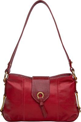 Hidesign Indus Small Shoulder Bag Red - Hidesign Leather Handbags
