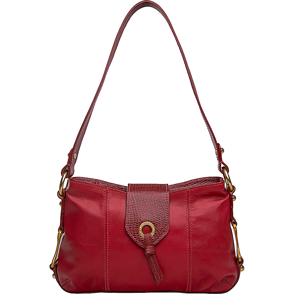 Hidesign Indus Small Shoulder Bag Red Hidesign Leather Handbags