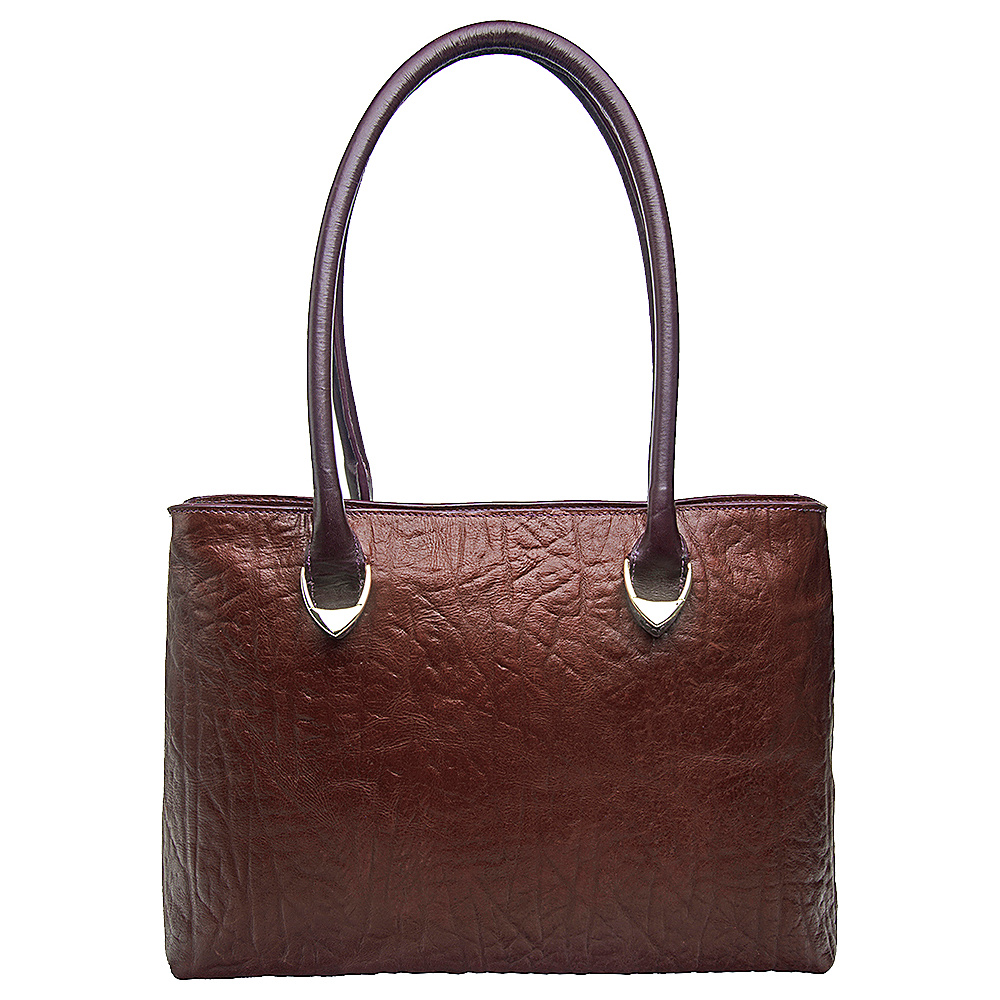 Hidesign Yangtze Medium Shoulder Bag Brown Hidesign Leather Handbags
