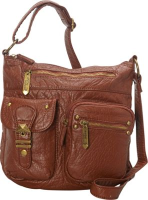 Ampere Creations The Kayla Crossbody Brown - Ampere Creations Manmade Handbags