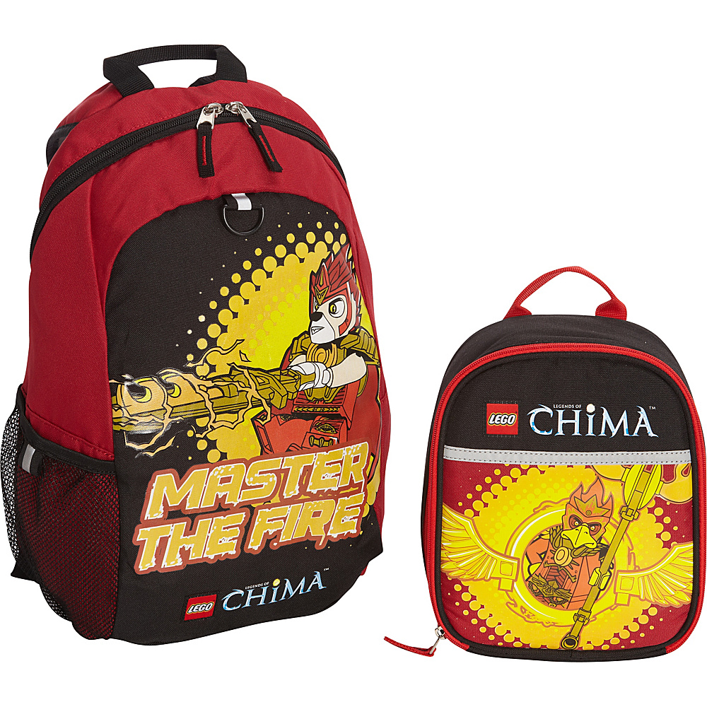 LEGO Chima Masters Of Fire Backpack Masters Of Fire Lunch Bag RED LEGO Everyday Backpacks