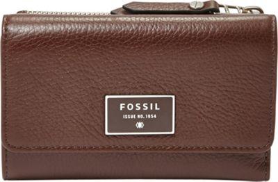Fossil Dawson Multifunction Wallet Espresso - Fossil Ladies Small Wallets