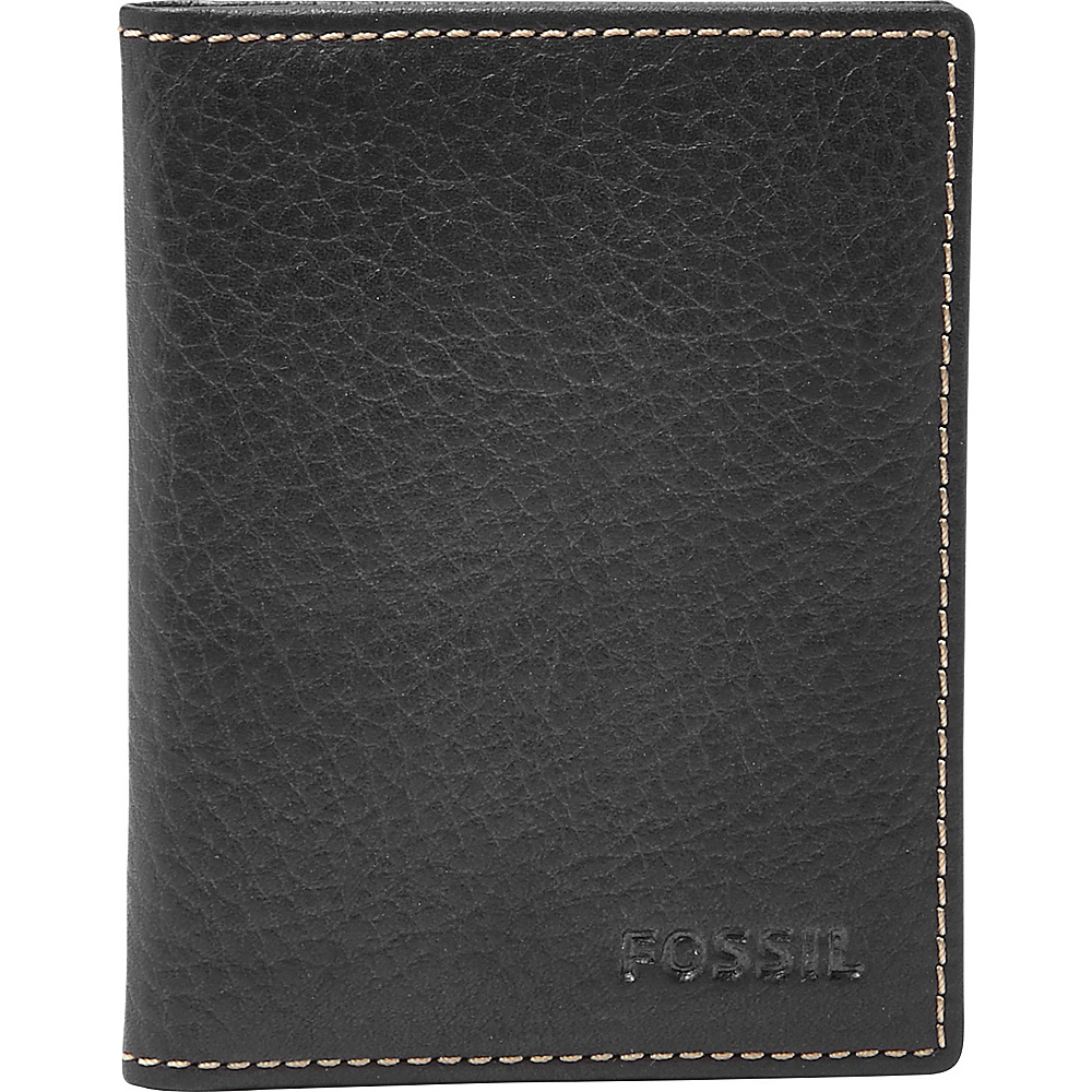 Fossil Lincoln Card Case Bifold Black - Fossil Mens Wallets - Work Bags & Briefcases, Men's Wallets